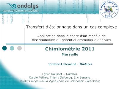 Conference Chimiométrie 2011