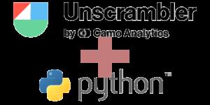 Traitement de données avec Unscrambler et python